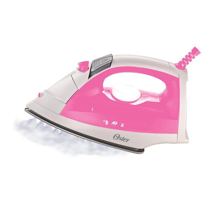Plancha de vapor Oster® rosada con suela de cerámica, vapor vertical y sistema de limpieza Anti-Cal - Oster