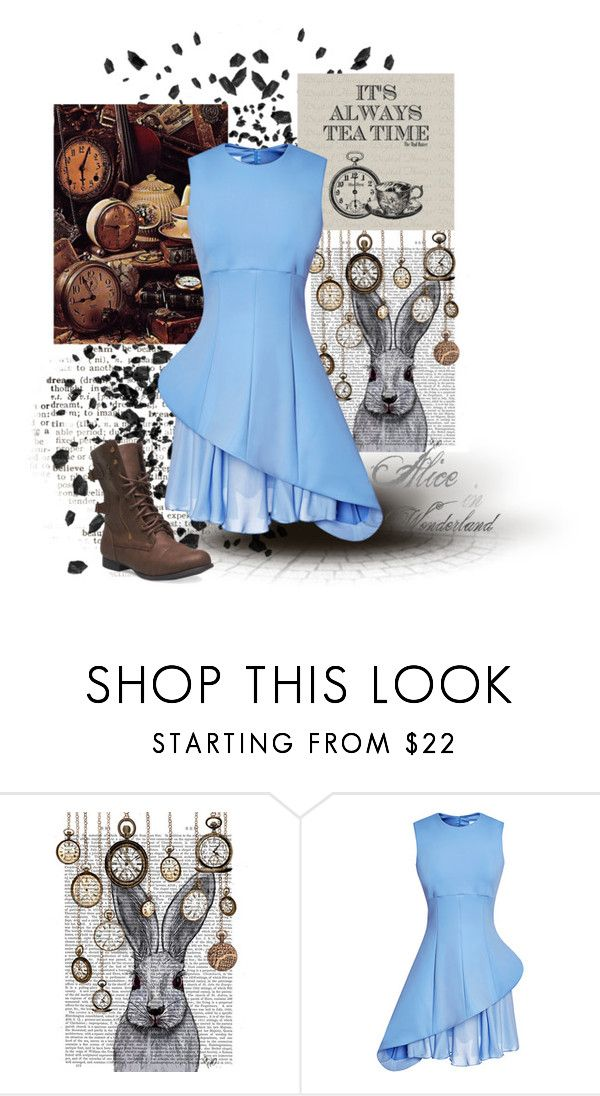 """Alice in Wonderland 3"" by faleur102 ❤ liked on Polyvore featuring WALL, ...Lost, Cushnie Et Ochs, Wet Seal, disney, Alice and aliceinwonderland"