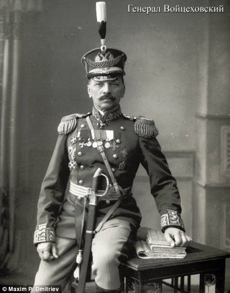 Among Dmitriev's subjects was General Voitsekhovsky, who fought for the White army against the Bolshevik reds during the Russian Civil War of 1917-23