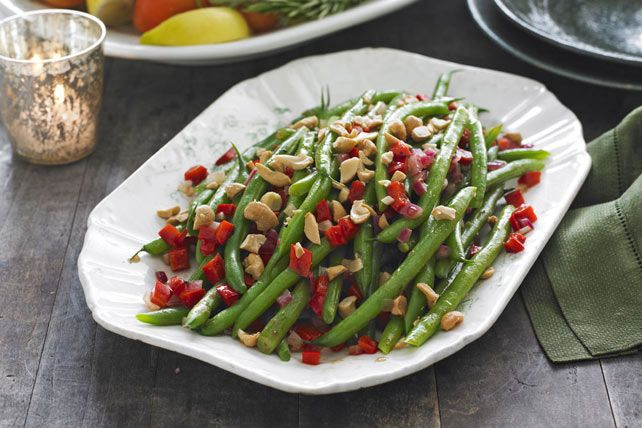 These sautéed green beans with cashews and peppers take top honors not just in the Tasty Side Dish category, but in Best-Looking and Most Festive too.
