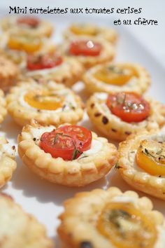 Mini tartelettes tomates et chèvre - Apéro