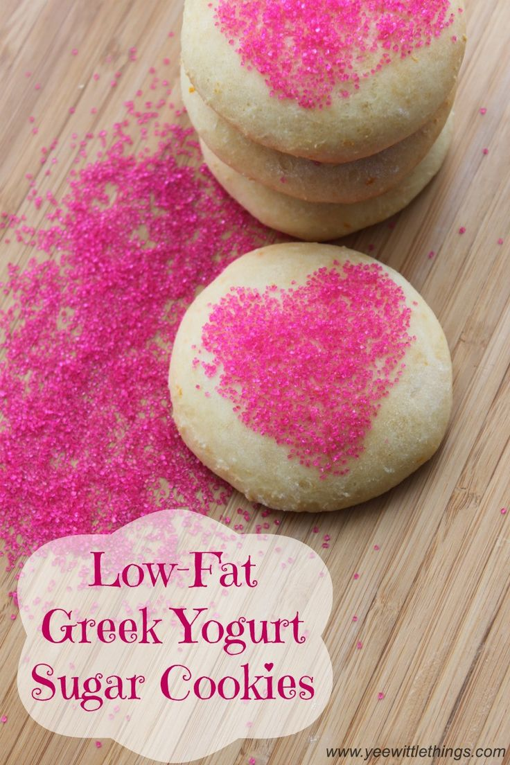 Low-fat Greek yogurt sugar cookies. I am all for adding Greek yogurt to everything!