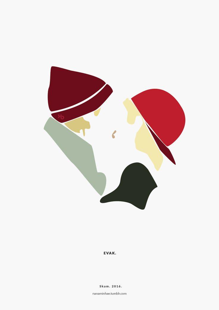 Evak. Isak & Even. Part III. SKAM. 2016. __________minimal project - (Part Twenty-one) Buy it here: REDBUBBLE