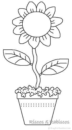 Maceta Para Dibujar. Dibujos De Flores Para Colorear. Macetero ...