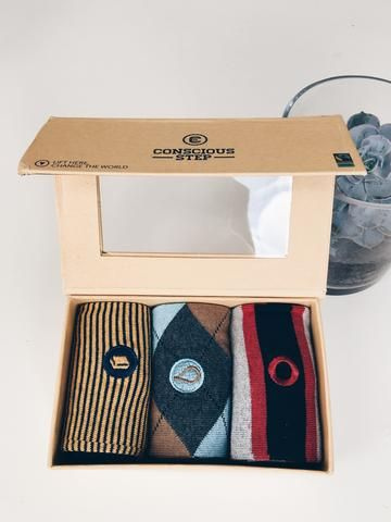Conscious Step Sock Collection - Books, Water, Poverty  #ethical #fashion  https://threadharvest.com.au/collections/all-mens-clothing