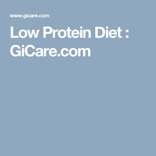 Low Protein Diet GiCare
