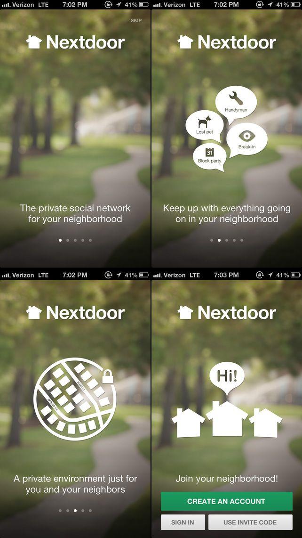Nextdoor · Walkthroughs #UI #UX #flat UI
