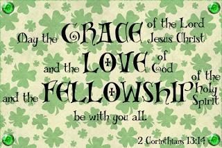 Lisajo Studio: St. Patrick's WORD Art Card Christian Printable