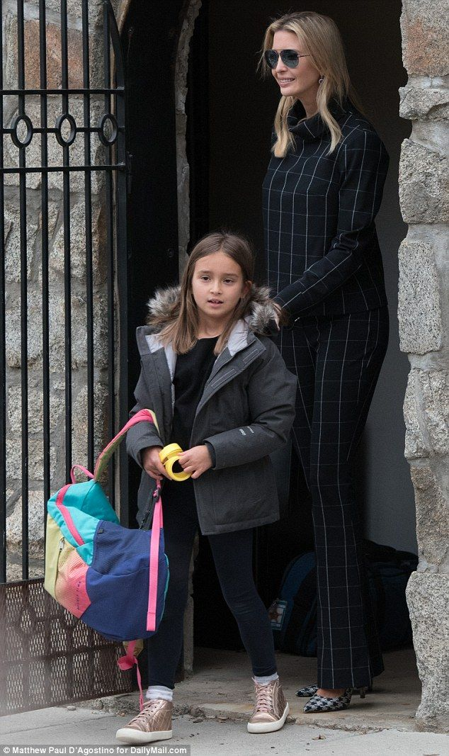 Duo: Ivanka Trump got to spend a little bit of extra time with her daughter Arabella on Tu...