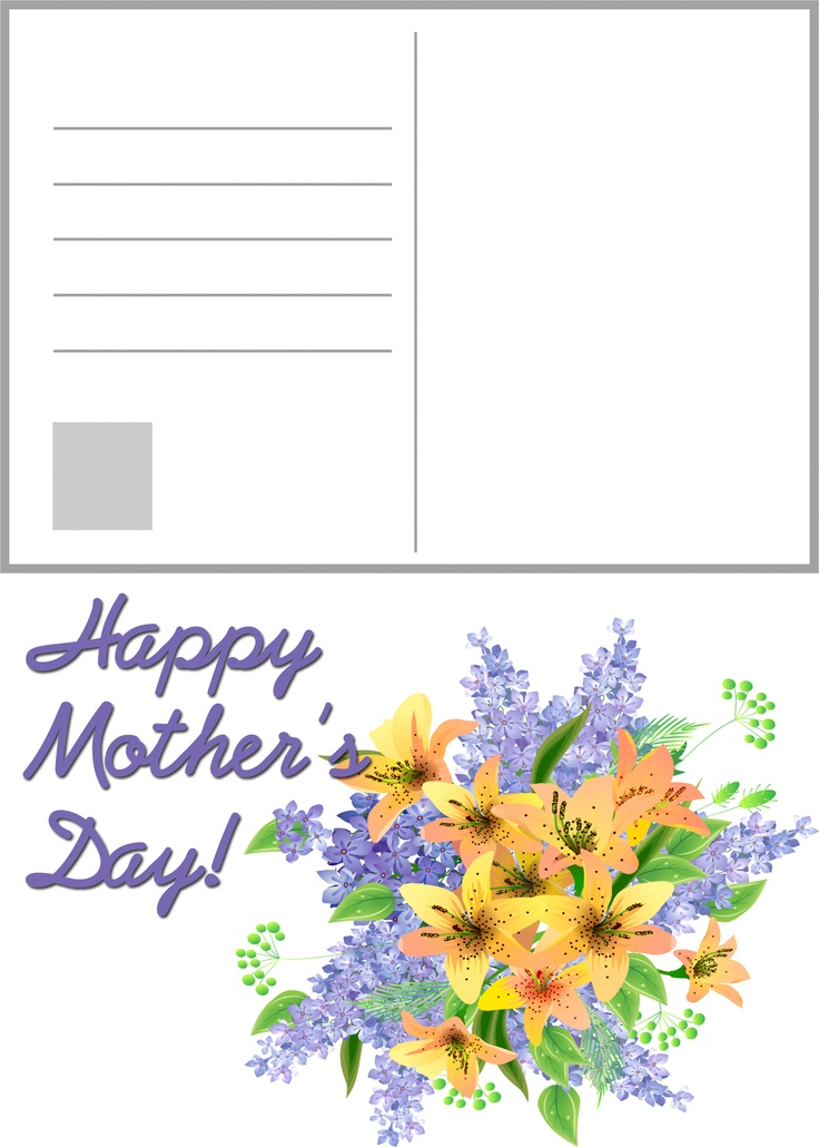 ... free #printable #mother'sday #mothersday #postcard | Pinterest | Free