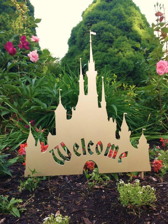 Disney Cinderella Castle Inspired Welcome by GalacticGardenArts