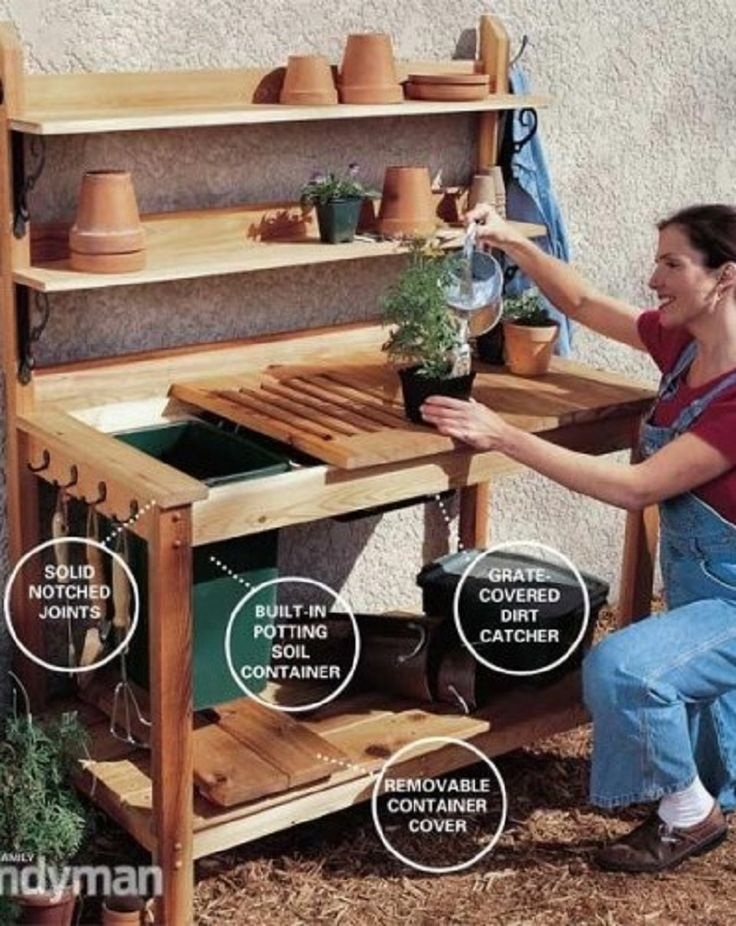 8 Functional DIY Garden Potting Stations - Gardenoholic