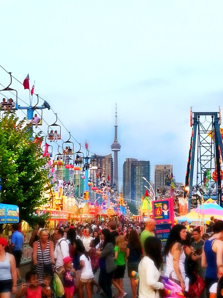 A great shot of the CN Tower from the Canadian National Exhibition (the EX)