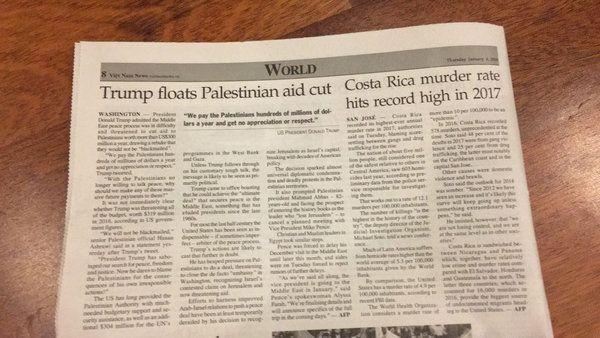 DE VIAJE CON JAIRO Costa Rica fue noticia en Vietnam... pero por el récord de homicidios El periódico en inglés Viet Nam News publicó una nota sobre la cantidad de asesinatos ocurridos en el 2017 en el país