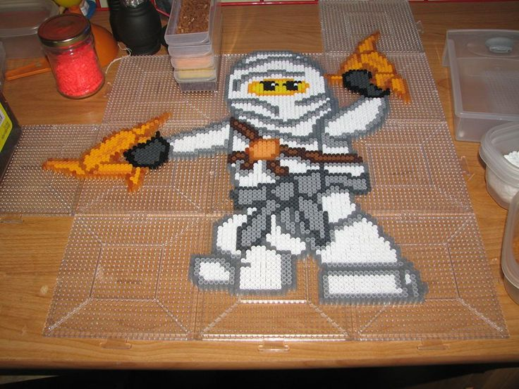 Zane - Lego Ninjago perler beads by ndbigdi on DeviantArt