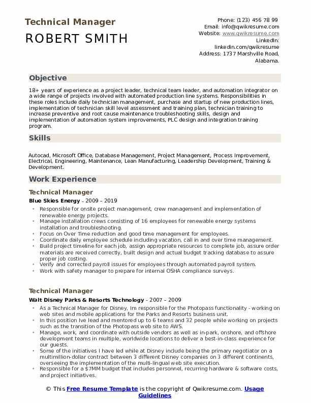 Technical Manager Resume Samples Qwikresume Image Result For Resume Manager Resume Resume Diagram Online