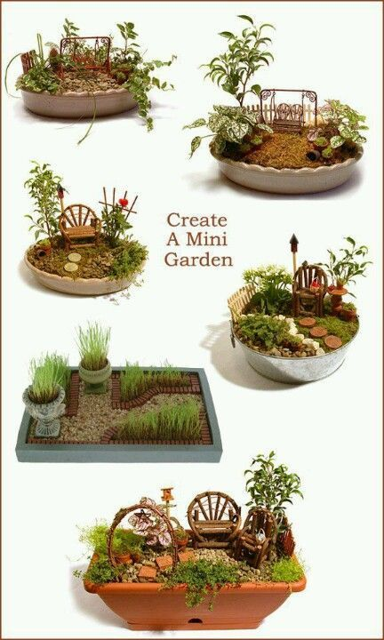 Fairy garden - layout ideas. Great activity for a family reunion. Fun for young and old. Summer crafting at grandmas house for all the grandkids.. plant some memories weave stories to make them dream - DIY Fairy Gardens