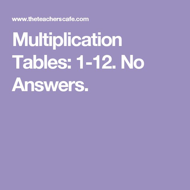 Common Worksheets multiplication table 1-12 : 78 best ideas about Multiplication Table 1 12 on Pinterest ...
