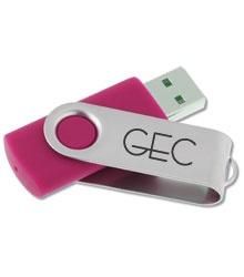 Swinging USB Drive - 8GB - 24 hr #4imprint