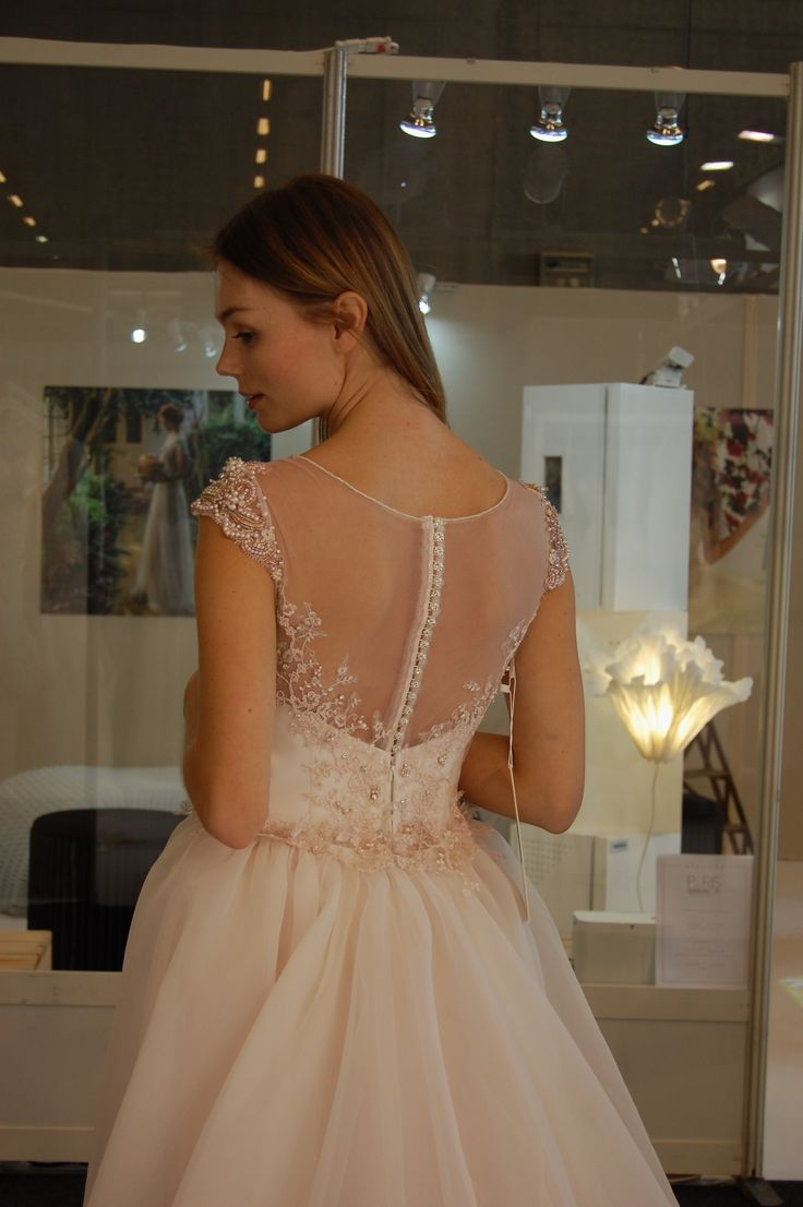 Paris Bridal Fair 2016 Sposa Group Wedding Dress Collection 2017 lovely pink wedding dress