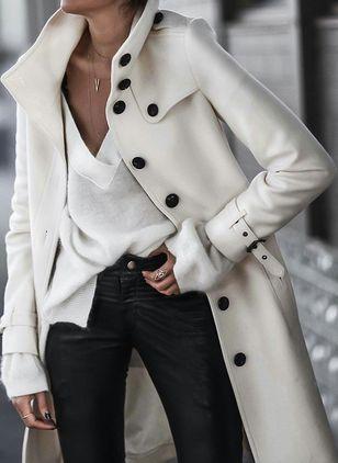 Incredibly Coats Button Down Collar Long Sleeves (1273020)