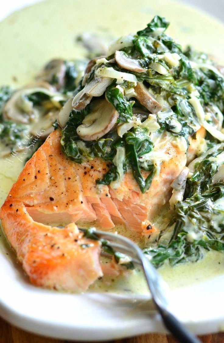 Light, creamy salmon dish that's easy to make and done in about 20 minutes. Salmon Florentine is made with juicy, tender, baked salmon and topped with creamy spinach and mushrooms. Don't forget to sign up for email, so you won't miss any new recipes. PIN IT if you LOVE IT!   I'm back with a delicious...Read More »