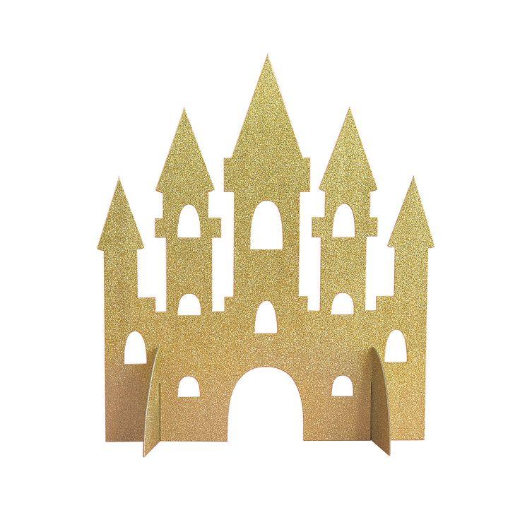 Gold Glitter Magical Princess Castle Centerpiece Decoration, 14″ By Unique | Michaels® – Aurora + Vittoria 4