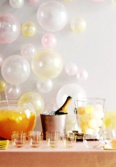 New year decor its a new year pinterest champagne for Champagne balloon wall