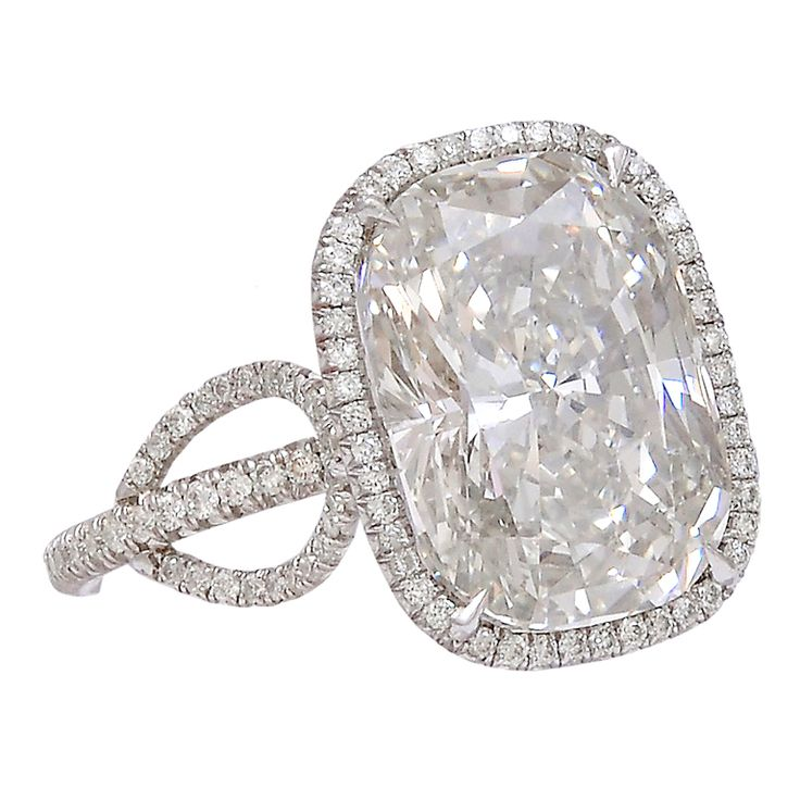 Extraordinary Cushion Cut 7.10 carat Diamond Ring | From a unique collection of vintage engagement rings at http://www.1stdibs.com/jewelry/rings/engagement-rings/