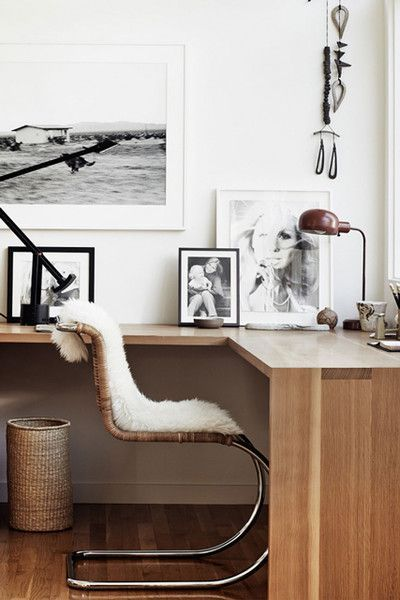 Office Update - 15 Rooms From Pinterest That Are Giving Us MAJOR Fall Vibes. love this modern meets boho home office.