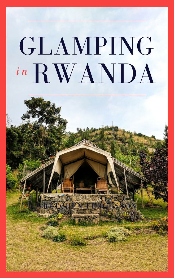 We spent 3 days glamping at a gorgeous lodge in Rwanda. Inzu Lodge offered great bungalow/tent options, amazing food, and an incredible view of Lake Kivu.