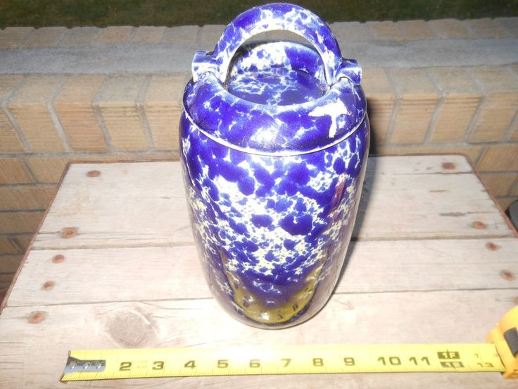 Bennington Pottery Smaller Crock 2224 with matching Lid- Rare and Pristine!