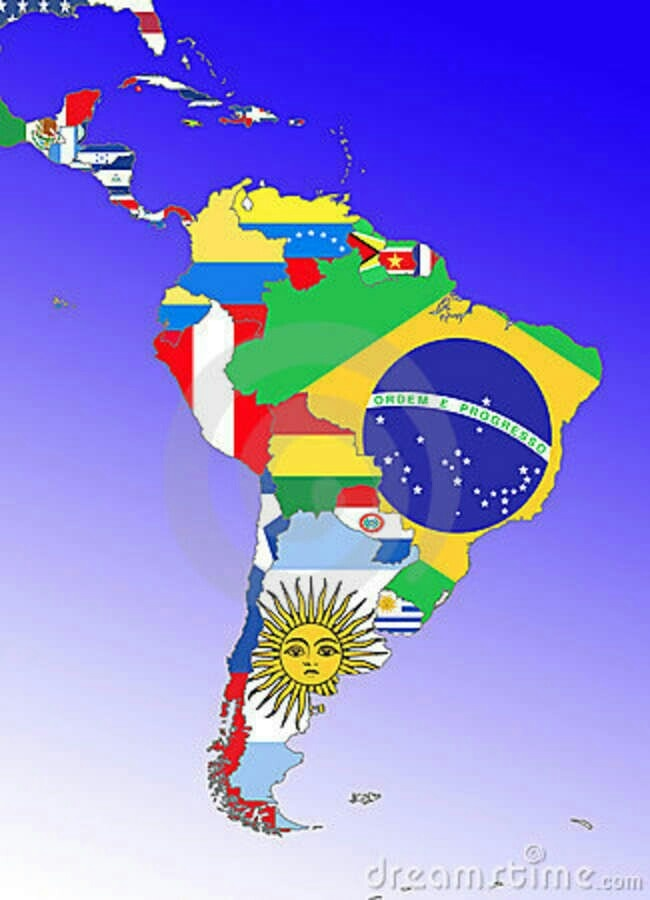 Latin American Countries and Flags