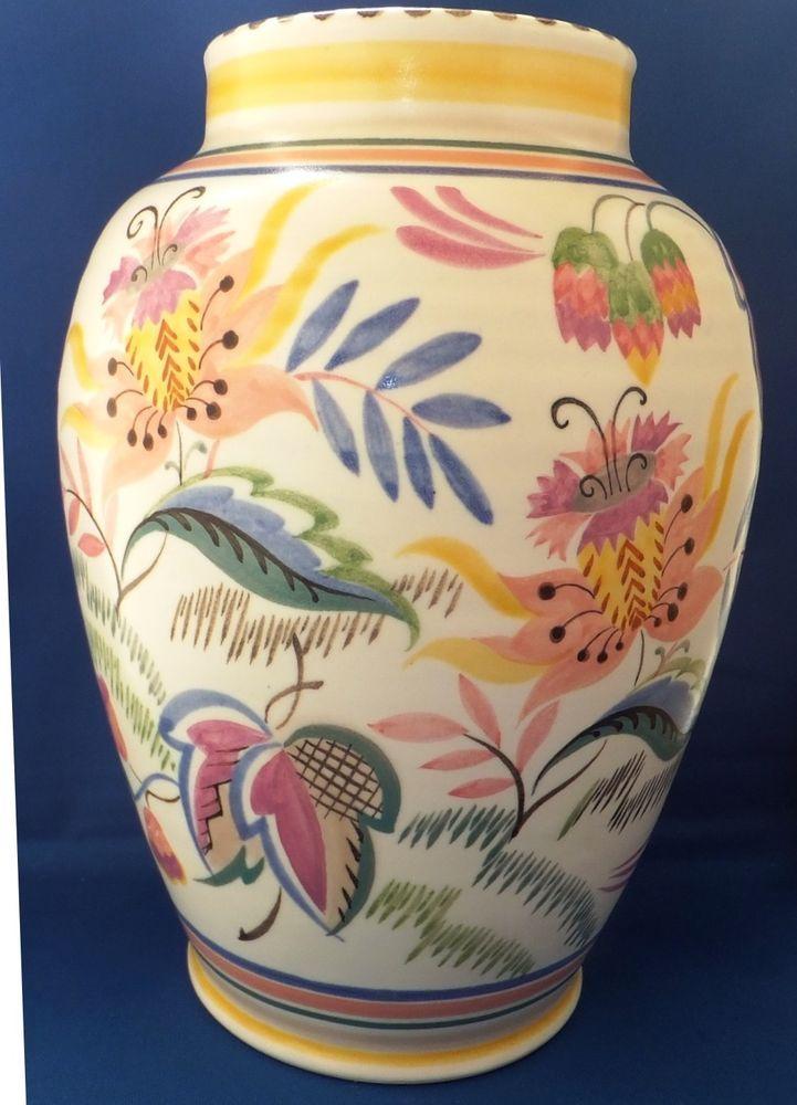 Huge Poole Pottery Vase Pattern Zg Shape 154 Ruth Pavely 1934 37