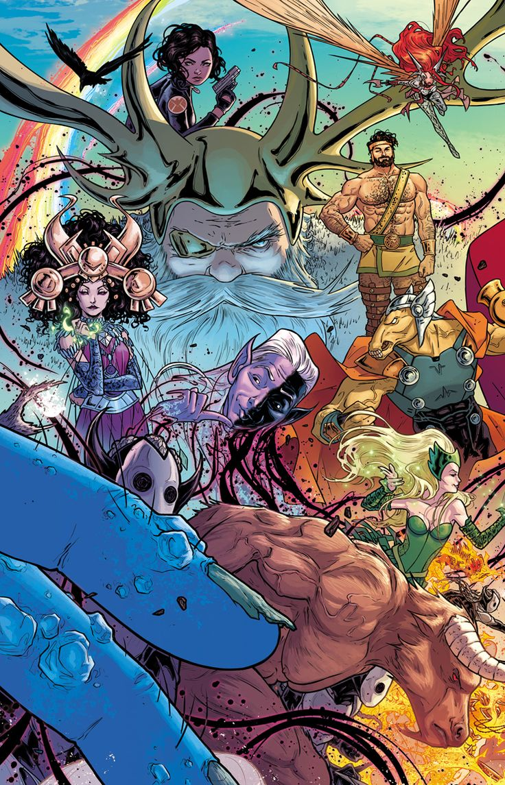 The Mighty Thor #1 Wraparound Gatefold by Russell Dauterman, colours by Matt Wilson *