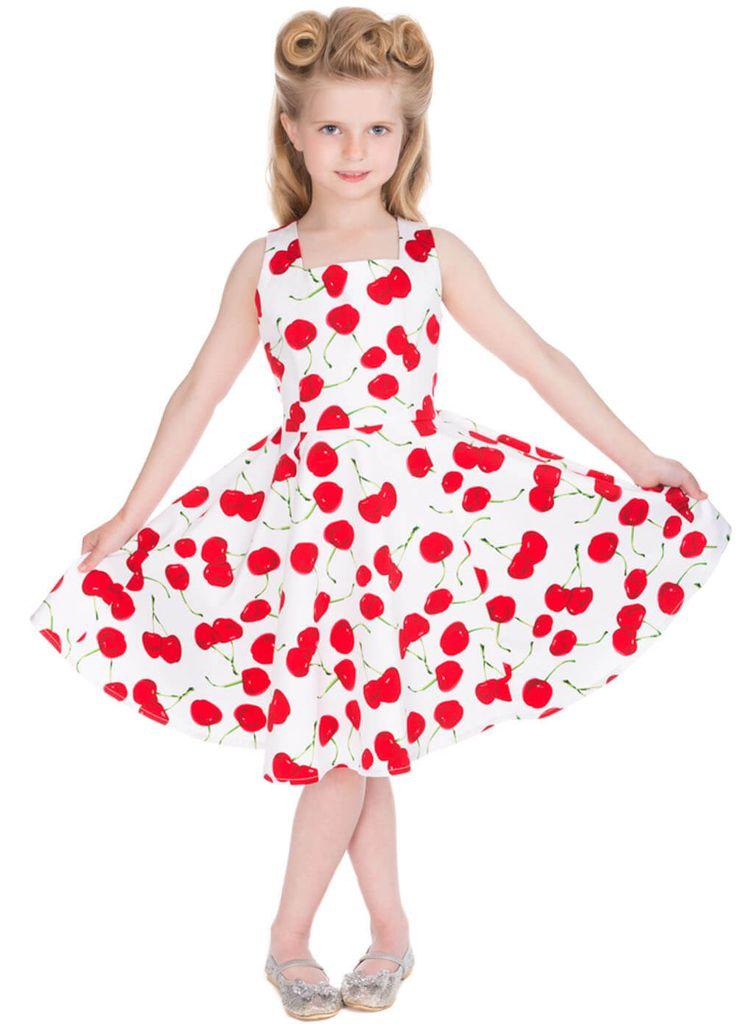 Description: Een favoriete print als kersjes konden wij natuurlijk niet weerstaan voor de kleine Diva s in wording!  Price: 29.95  Meer informatie  Hearts en Roses Kids Bombshell Cherry Jurk Wit