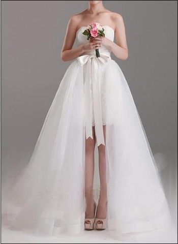 2-in-1 Brautkleid mit Abnehmbarem Tüllrock WD260