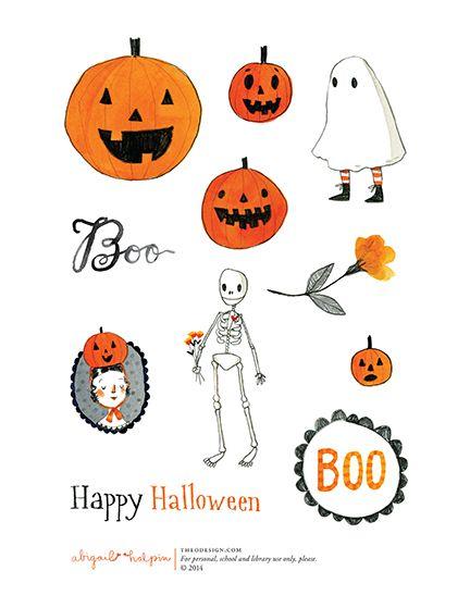 halloween sticker printables by Abigail Halpin