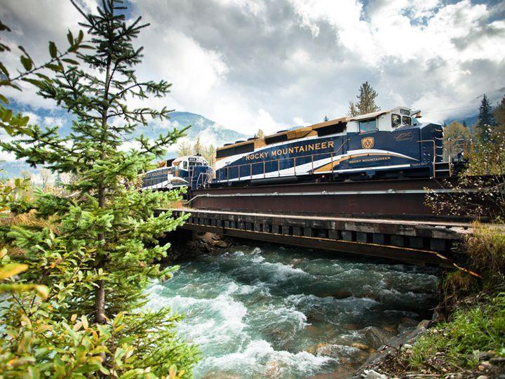 rocky dağları köprü tren yolculuğu