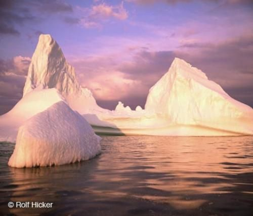 Colorful Iceberg picture off the Coast of Labrador, Canada