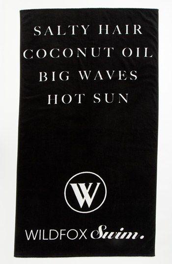 StyleSpotter Beach Necessities Wildfox 'Salty Hair' Swim Towel | Nordstrom