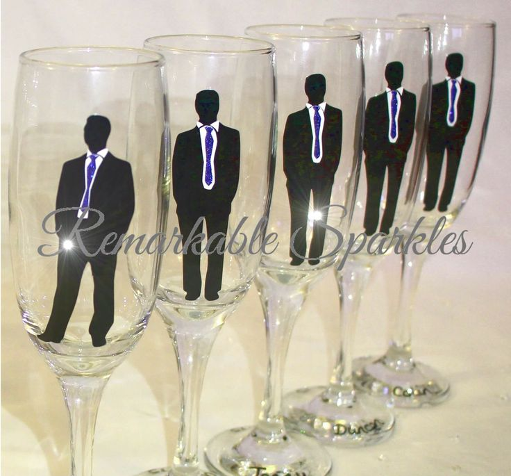 The perfect wedding gift - champagne toasting flutes with personalised Groom & Groomsmen or Ushers   #weddinggift #weddingpresent #wedding #bride #groom #ushers #groomsmen #giftforhim #somethingblue #weddingideas #bridetobe #2015bride #weddinginspo #weddinginspiration #beautiful #handmade #love #weddingdress #remarkablesparkles  Facebook.com/RemarkableSparkles