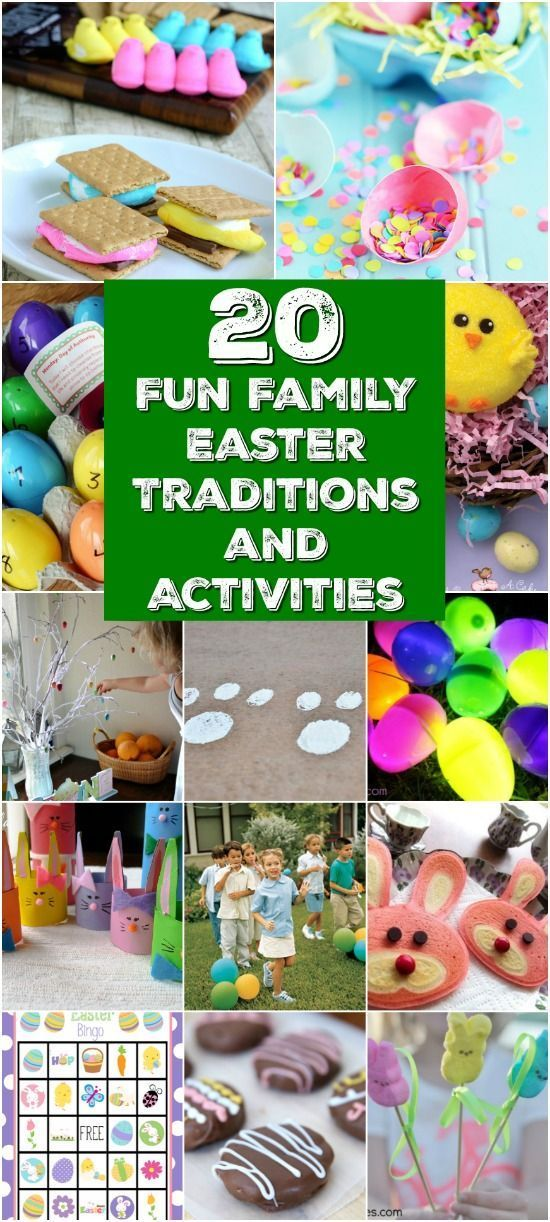 20 Fun Family Easter Traditions and Activities You Should Start This Year - Collection researched and curated by http://diyncrafts.com team!
