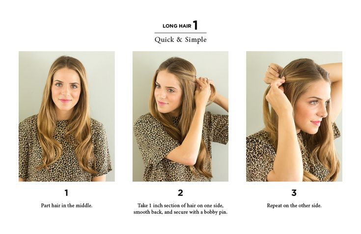 10 Easy Ways to Style Hair - For when I get sick of short hair.