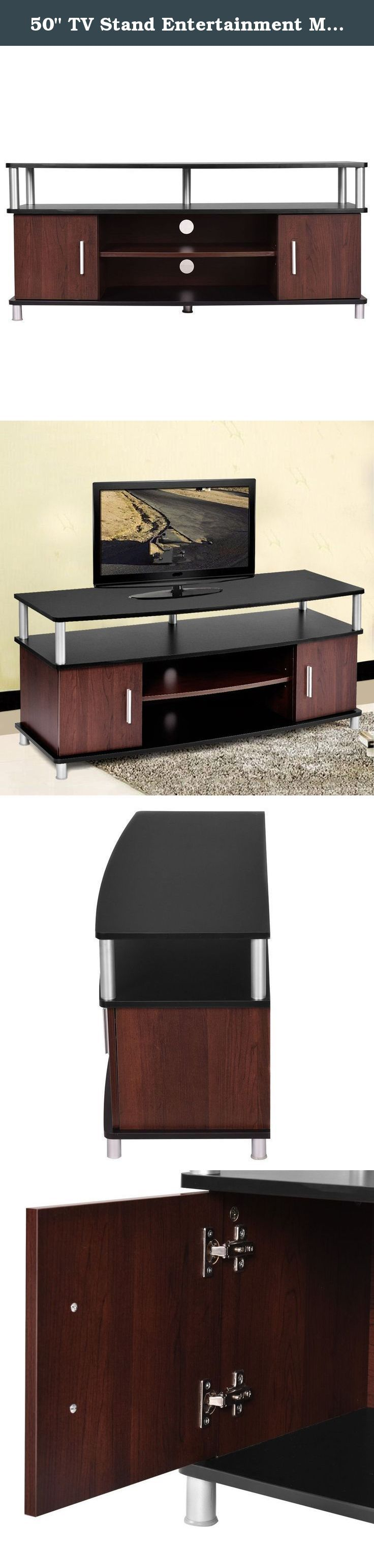 """50"""" TV Stand Entertainment Media Center Storage Wood Cabinet Home Furniture Modern Classic Elegant Decoration. Large TV stand cabinet, with multiple drawers for storage needs. Classic and stable design for long time using, great decoration in house ."""