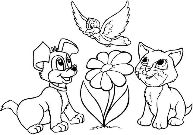 Eight Adorable Dog And Cat Coloring Pages For Pet Lovers Coloring Pages In 2021 Cat Coloring Page Dog Coloring Page Animal Coloring Pages