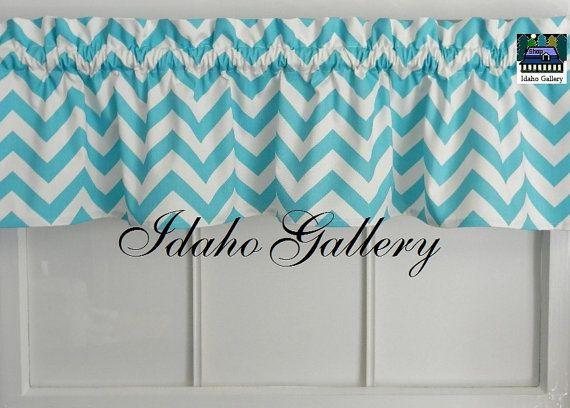 Curtains Ideas chevron curtains blue : 17 Best images about Curtains on Pinterest   Curtain valances ...