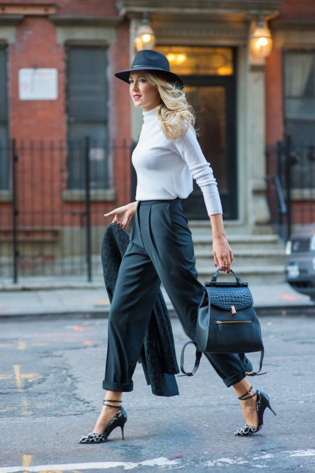 the shoes are the bomb. Don't get the hat, but she can pull it off--she can pull anything off. Very elegant.