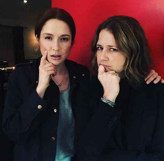 "When our two favorite receptionists hung out in March 2016. | 18 Times The Cast Of ""The Office"" Reunited And We All Felt Things"