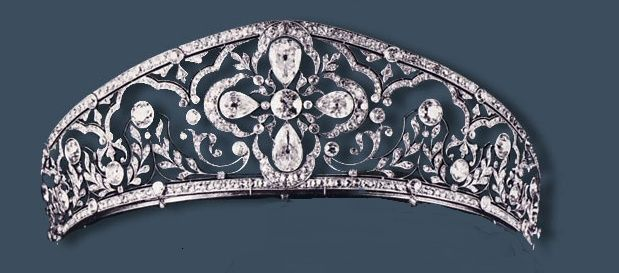 Princess Louise of Orléans Kokoshnik diamond tiara. It was sold in 1981 at Sotheby's, current owner is unknown. Louise was the mother of the Countess of Barcelona and King Juan Carlos maternal grandmother